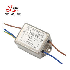 Low Pass 3A Wire AC RFI Power Line Filter 120V 250V Customized Service