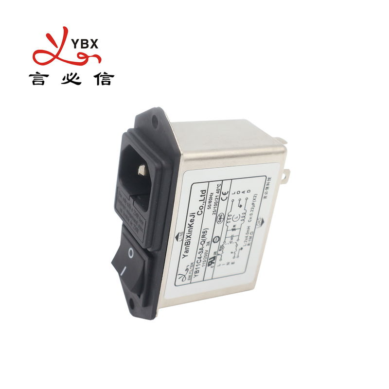 250VAC Electrical EMI Power Filter , AC Line Noise Filter For Television