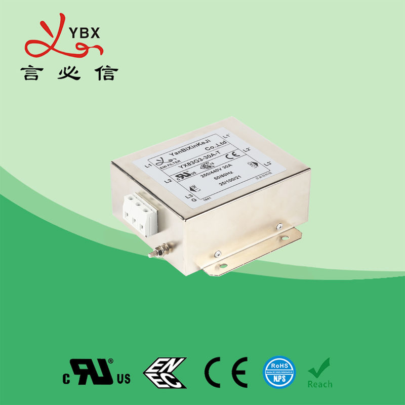 Low Loss 3 Phase Power Line Filter For High Power Office Equipment