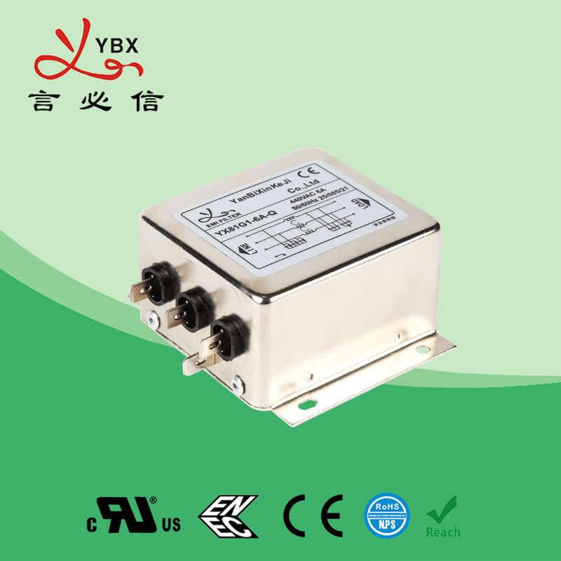 Electrical 3 Phase EMI Filter Stable Performance Long Working Lifespan