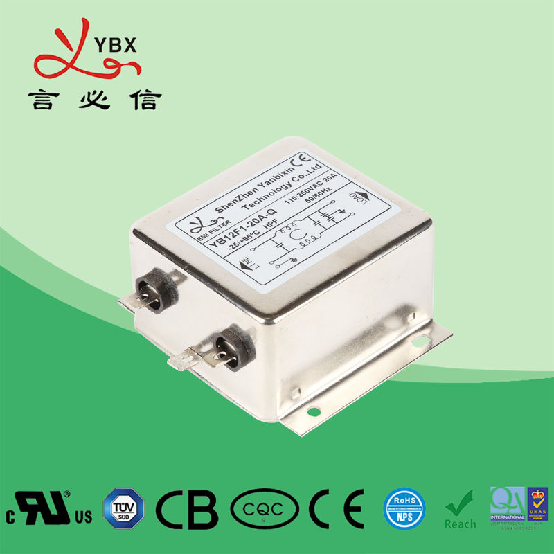 Yanbixin 1A-100A 250V Electrical Power Filter Stable Performance Long Working Life